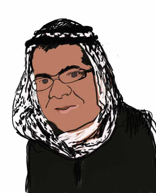 האיור של גבר ערבי