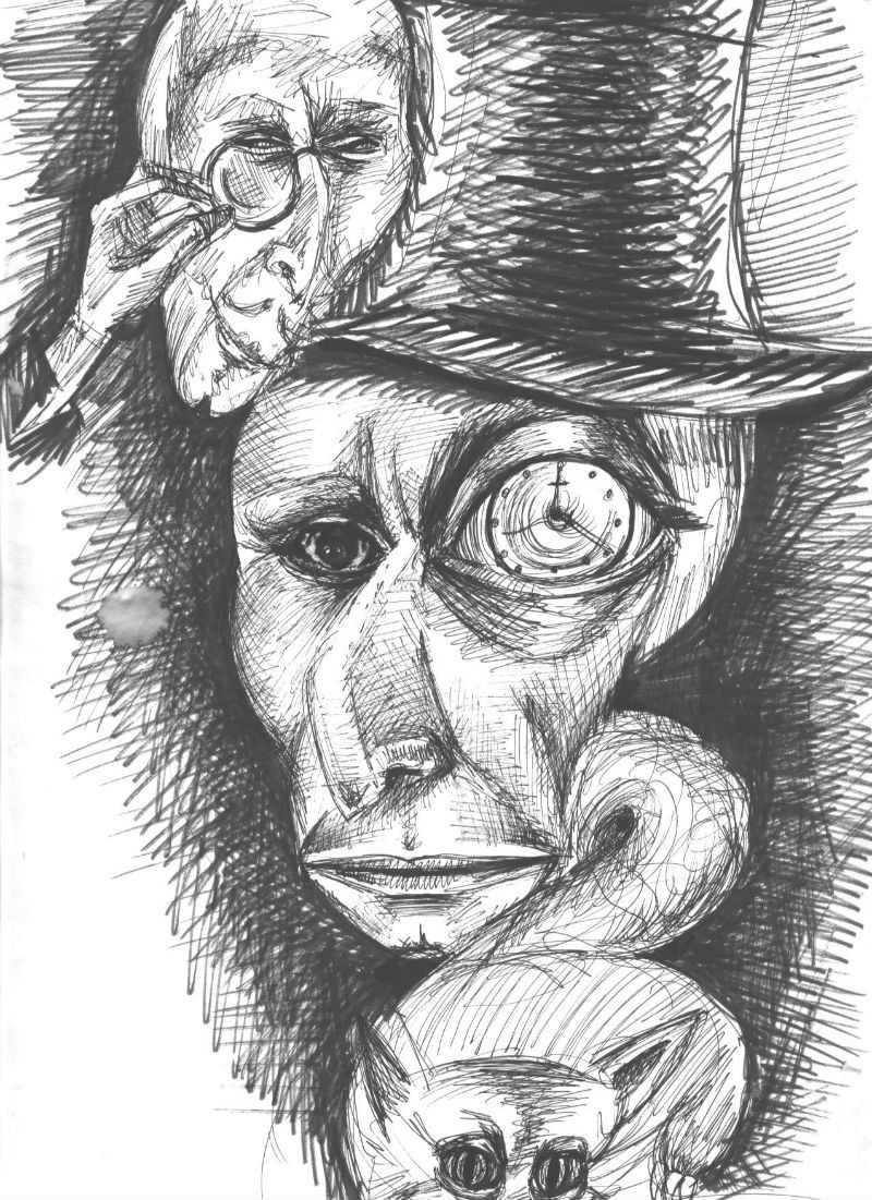 האיור של וולנד דמותו מספר של בוגזקוב האמן ומרגריטה