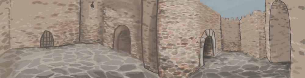 האיור של טירת ימי הביניים