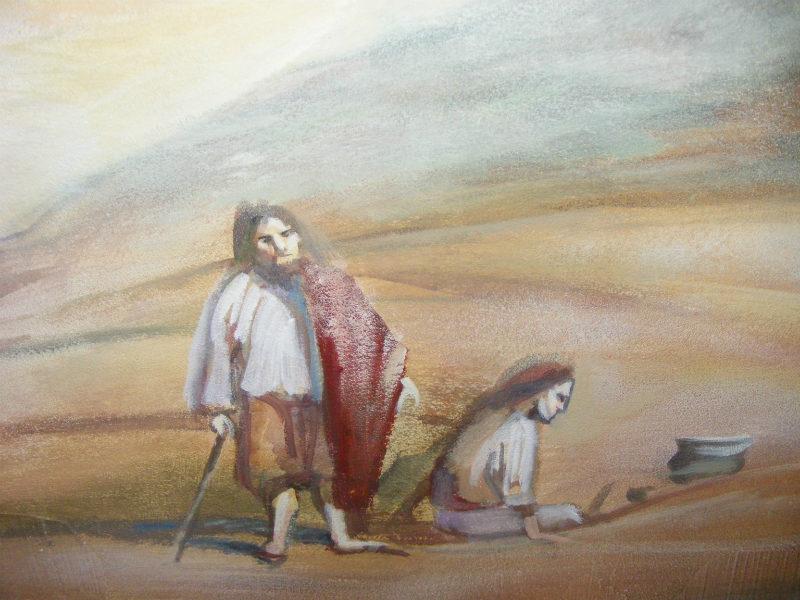 החלק המרכזי ציור קיר לסלון זום חזק