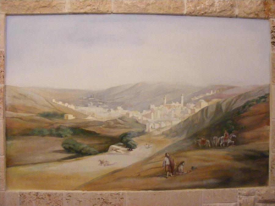 החלק המרכזי של ציור קיר (טריפטיכון) לסלון