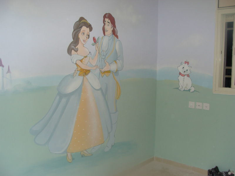a wall-painting painted over smooth surface