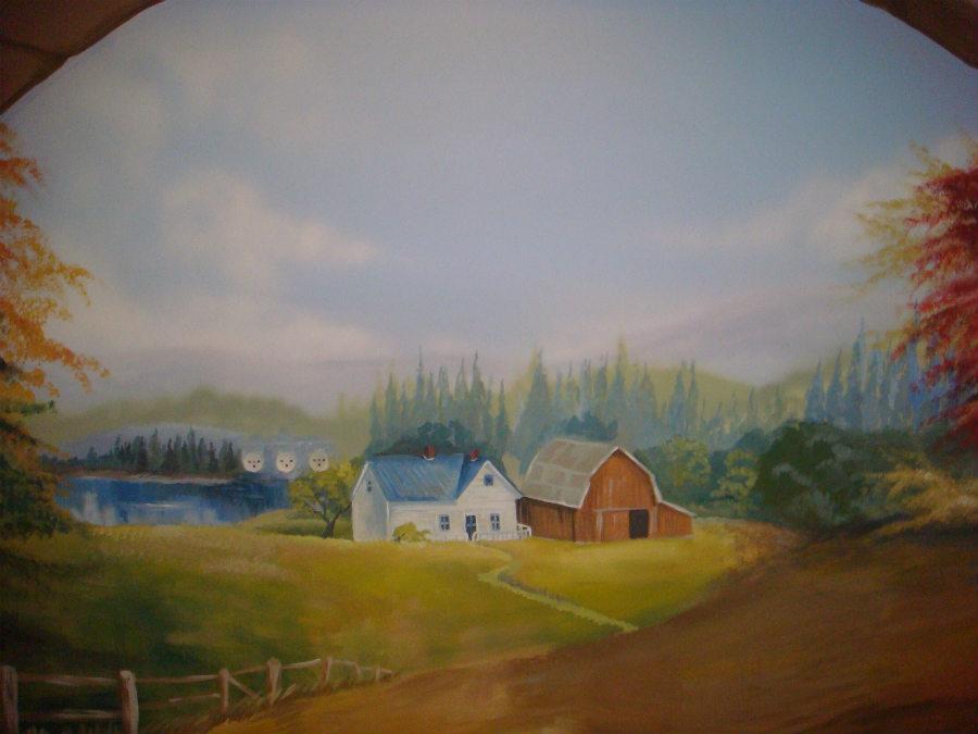ציור קיר לחדר