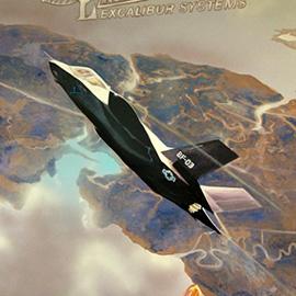 Excalibur raptor mural