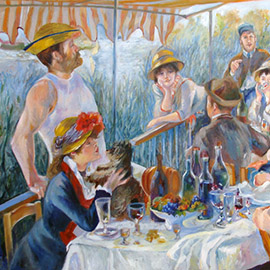 Luncheon of the boating party renoir