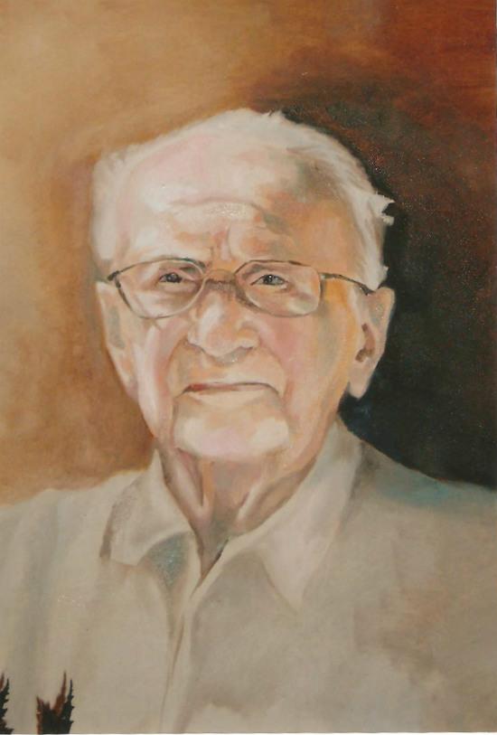 ציור שמן של גבר זקן