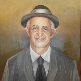 Portret father oil