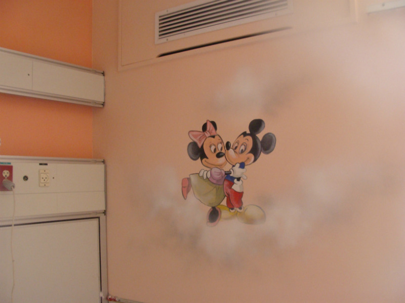 a little wall-painting in the hospital