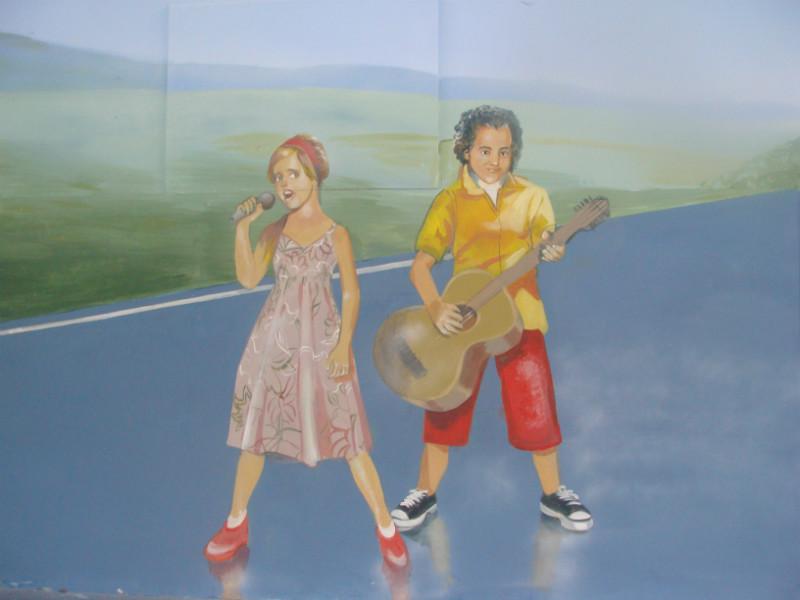 ציור קיר בבית ספר גבעת זאב