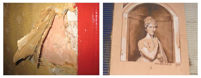 מדבקןת קיר בניגוד לציורי קיר