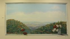 ציור על הקיר של הרי ירושלים