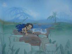 ציור קיר של טרזן דיסני