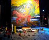 אחד מהציורים בפסטיבל DRAW THE MUSIC