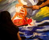 אנה קוגן ומיקה סלמון מציירות