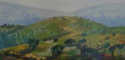 ציור קיר של ארץ הקודש באיתנים מחלקת אוטיסטים