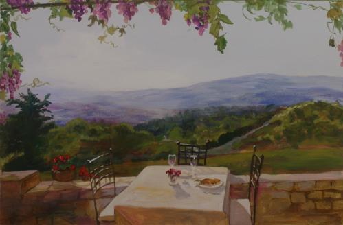 ציור קיר בחדר אוכל של בי''ח איתנים