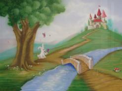 ציור קיר של ממלכה קסומה ברחובות