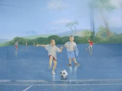 ציור קיר לנוער במגרש משחקים