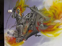 ציור הקיר של גוסט ריידר לילד בדרום הארץ
