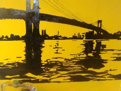 ציור קיר לעסק של גשר ברוקלין