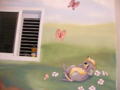 ציור קיר בסגנון פו הדוב וחבריו