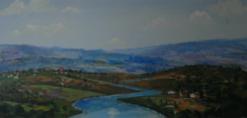 ציור קיר של עמק הירדן באיתנים מחלקת אוטיסטים