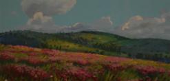 ציור קיר של ארץ הקודש בעונת האביב באיתנים מחלקת אוטיסטים