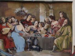 ציור קיר במעדת ג'ופאה ביפו שוק הפשפשים
