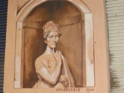 ציור קיר סגנון רנסאנס בשוק הפשפשים