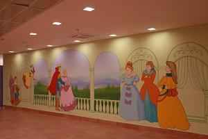 ציור קיר מאגדת ילדים סינדרלה