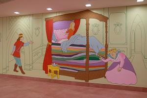ציור קיר של הנסיכה והאפון