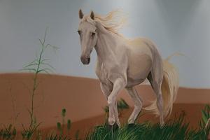 ציור קיר של וסוס לבן