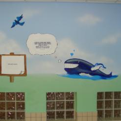 ציור קירות של לוויטן, ציפור ושמש