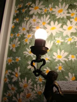 ציור על הקיר בפטיו זום צד שמאלי