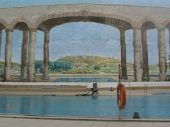 ציור קיר תלת מימד 600 מ''מ בבית מלון רימון