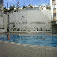 הבריכה של בית מלון רימונים לפני ציור