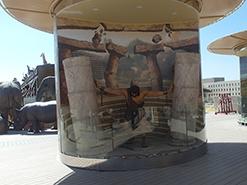 מדבקת קיר שמשון הגיבור מבוססת על הציור הדיגיטלי