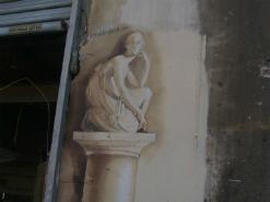 ציור קיר תלת מימד של פסל