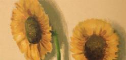 ציור קיר של פרחי חמניות באיתנים מחלקת אוטיסטים