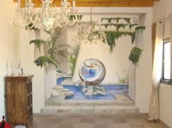 ציור קיר תלת מימד לסלון בבית שמש