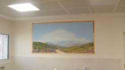 ציור קיר תלת מימד של הרי יהודה באייתנים