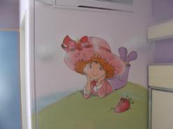 ציור על קיר בבית חולים הדסה של תותית