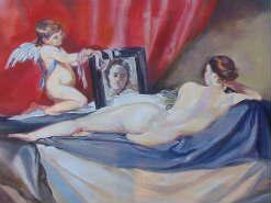 ציור שמן על קנבס ונוס והמראה ולסקז