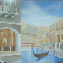 ציור קיר של וונציה לסלון בסגנון קלסי
