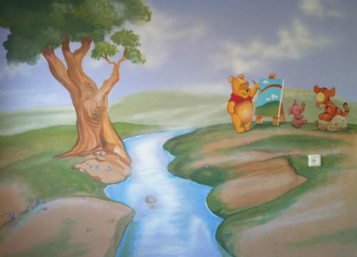 ציור קיר חדש של בייבי פו הדוב