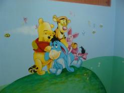 ציור של פו הדוב וחבריו